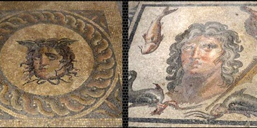 Pergenin Medusa ve Okeanus mozaikleri sıkı korunuyor