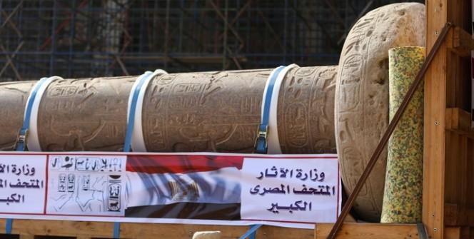 Merneptah sütunu Büyük Mısır Müzesine taşındı