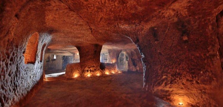Nevşehir yeraltı kentinde dev galeriler keşfedildi