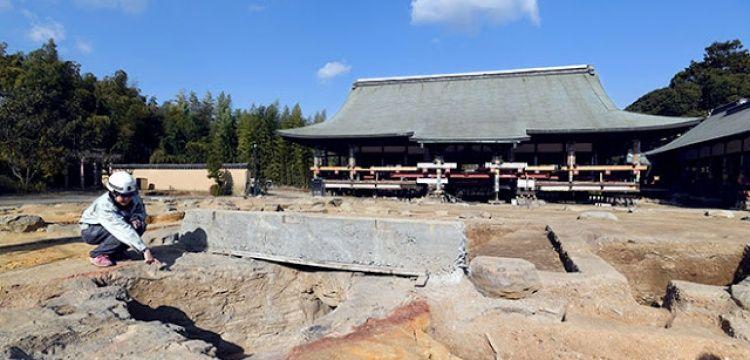 Toshodaiji tapınağı enkazında kiremit fırını bulundu