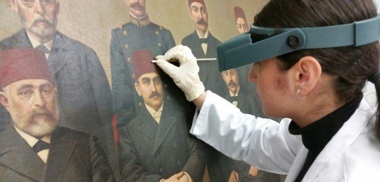 Ünlü ressamların Edirne'deki tarihi tabloları onarılıyor