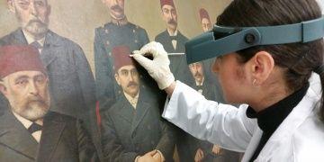Ünlü ressamların Edirnedeki tarihi tabloları onarılıyor