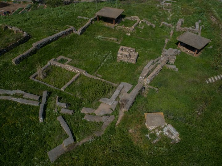 Sardes Antik Kenti'ne havadan bakış