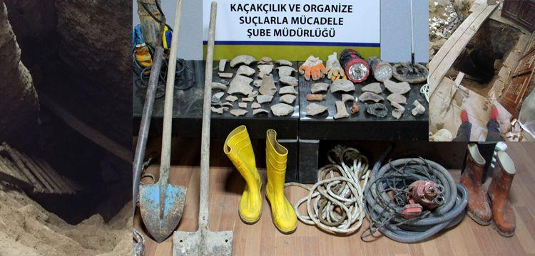 Çankırı'da iki evde define arayan 5 kişi yakalandı