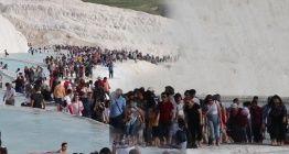 Pamukkale turizmde tarihi bir rekora imza atıyor