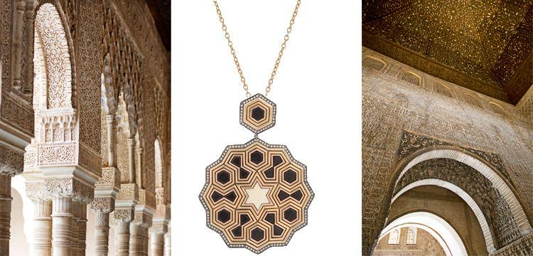 El Hamra Sarayı süslemeleri mücevhere taşındı