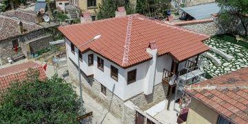 Eceabattaki Atatürk evi restorasyonu sona yaklaşıyor