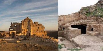 Zerzevan Kalesindeki Mithras Tapınağının koridorları keşfedildi