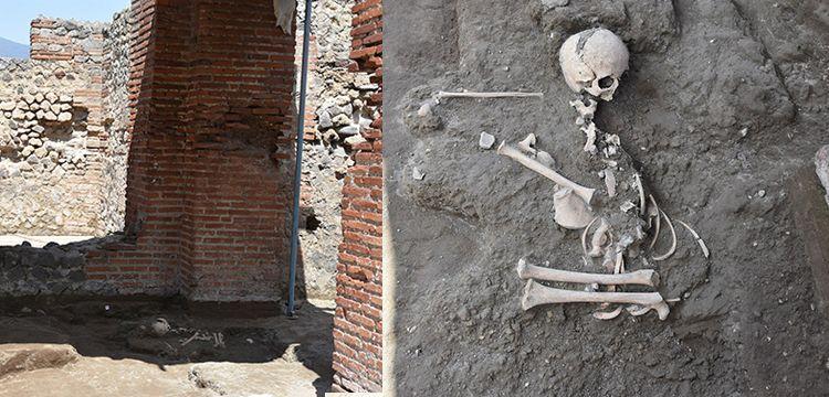 Pompeii'de hamama sığınmış çocuk iskeleti bulundu
