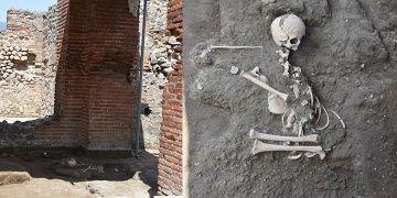 Pompeiide hamama sığınmış çocuk iskeleti bulundu