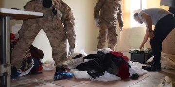 Jandarmalar Adıyamanda kaçak tarihi eser aradılar