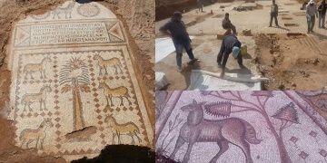 Suriyede Bizans kilise zemin mozayiği bulundu