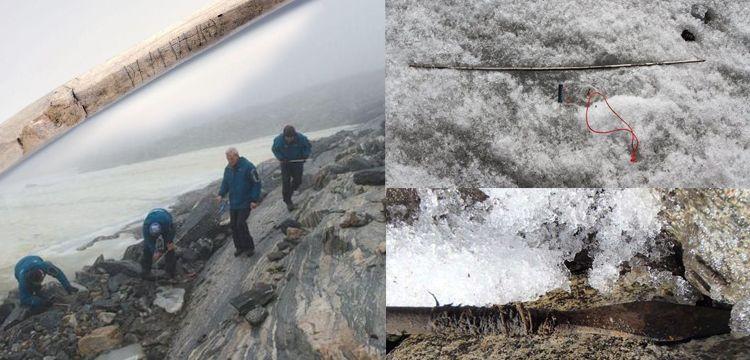 Buzullar eridikçe binlerce arkeolojik eser açığa çıktı