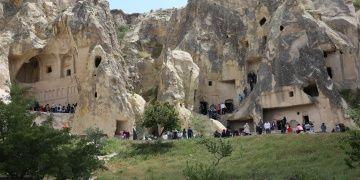 Kapadokyada müze ve yeraltı şehrine ziyaretçi yağıyor