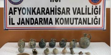 Afyonkarahisarda olası tarihi eserler yakalandı