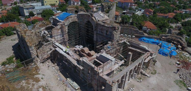 Enez Fatih Camisi'nin restorasyon çalışmalarında sona yaklaşıldı