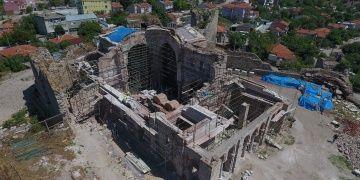 Enez Fatih Camisinin restorasyon çalışmalarında sona yaklaşıldı