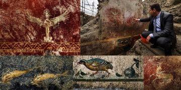 Pompeiide yeni duvar freskleri ve koşumlu atlar keşfedildi