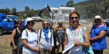 Datçada arkeolojik sit alanına yapılan otel yıkıldı