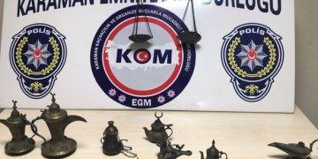 Karamanda Osmanlı devri tarihi eserleri yakalandı