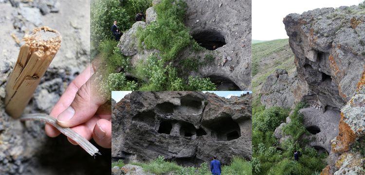 Defineciler Erzurum'daki Urartu Kaya Mezarlarını parçaladı