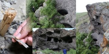 Defineciler Erzurumdaki Urartu Kaya Mezarlarını parçaladı