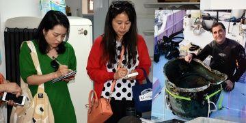 Japon gazeteciler Sualtı Arkeoloji Enstitüsünü ziyaret etti