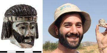 İsrailde kral olduğu sanılan 2 bin 800 yıllık heykel başı bulundu