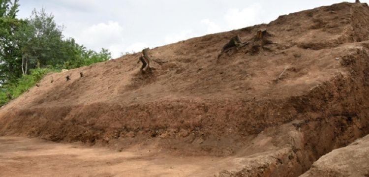 Güney Kore'de toprak surla çevrili saray kalıntısı bulundu