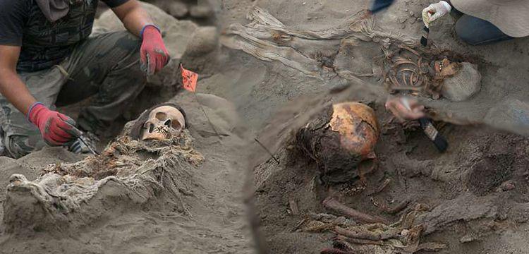 Arkeologlar Peru'da kalbi sökülmüş 56 çocuk mezarı daha buldular
