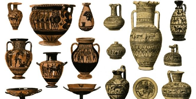 Antik Yunan ve Romada sık rastlanan 15 kap şekli