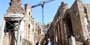 Antalyanın Kesik Minareli Camisinde restorasyon başlıyor