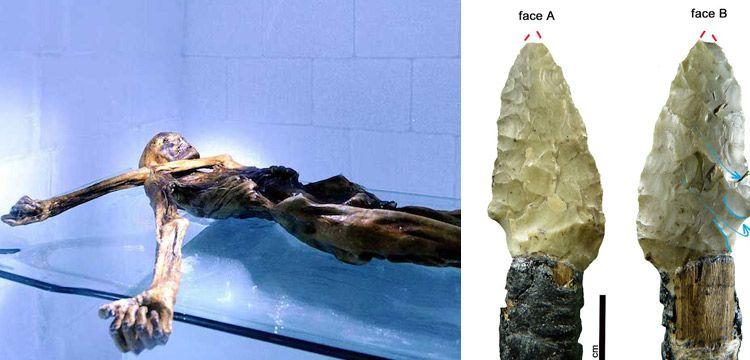 Buz Adam Ötzi'nin aletlerinin tomografisi çekildi