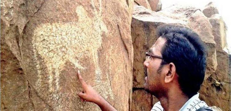 Hindistan'ın Andhra Pradesh eyaletinde petroglifler bulundu