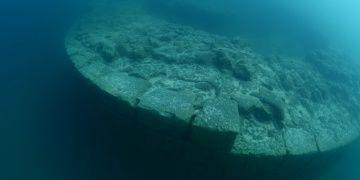 Van Gölündeki kale surları ikinci kez görüntülendi