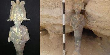 Arkeologlar Mısırda bronz Osiris heykeli buldular