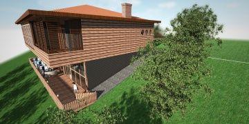 Boztepeye 5 villa bir restoran inşa ediliyor