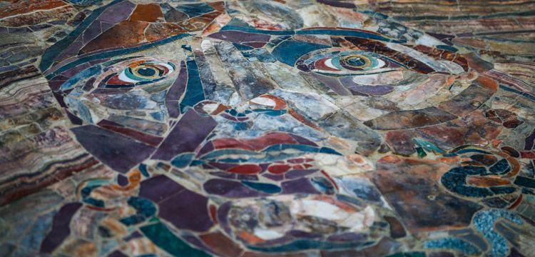 Kibyra Antik Kentindeki Medusa mozaiği ziyarete açıldı