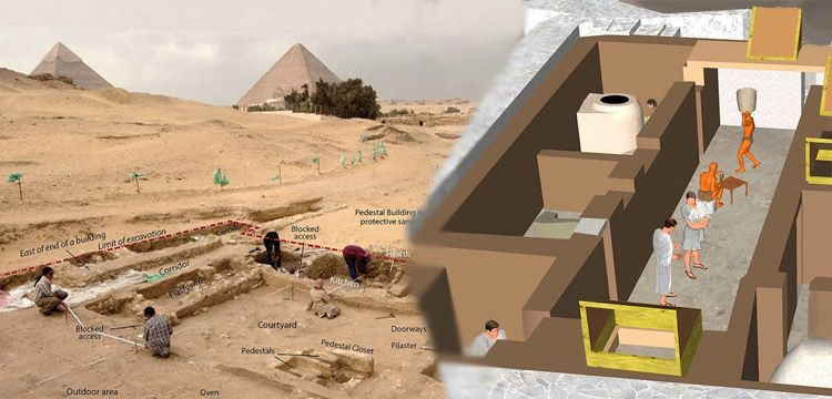 Mısır'da Gize piramitleri yanında antik evler bulundu