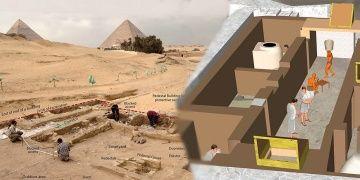 Mısırda Gize piramitleri yanında antik evler bulundu
