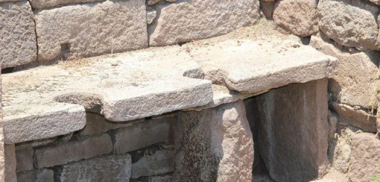 Aigai antik kenti tuvaletlerindeki insan idrarı tabakhanede kullanılmış