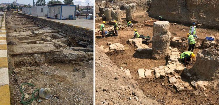 Haydarpaşa'da rayların altından Bizans devri kalıntıları çıktı