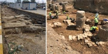 Haydarpaşada rayların altından Bizans devri kalıntıları çıktı