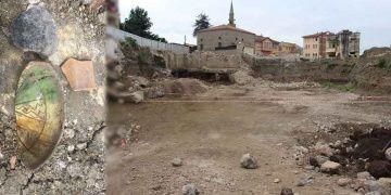 Trabzonda inşaat alanından Bizans keramiği çıktı