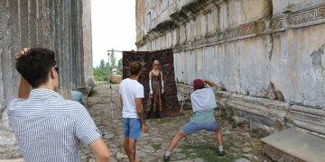 Aizanoi Antik Kenti, moda ve düğün fotoğraflarına dekor oluyor