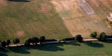 Sıcaklar bataklığı kurutunca tarihi kalıntılar ortaya çıktı