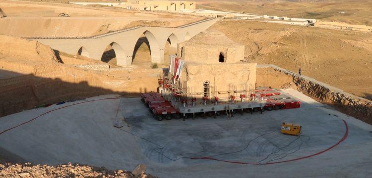 Hasankeyf'teki tarihi Artuklu Hamamı yeni yerine indiriliyor
