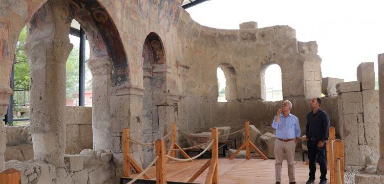 Andaval Kilisesi'nin 22 yıllık restorasyonunda son evre