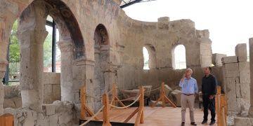 Andaval Kilisesinin 22 yıllık restorasyonunda son evre