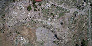 Pergamon Amfi Tiyatrosunda deniz savaşı provaları yapılmış